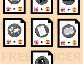 #10 cho Set of 7 Icon Illustrations needed for online-shop (language learning related) bởi nhicko07