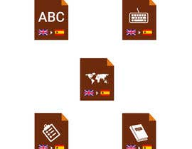#6 cho Set of 7 Icon Illustrations needed for online-shop (language learning related) bởi Irfan80Munawar