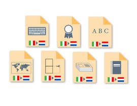 #19 cho Set of 7 Icon Illustrations needed for online-shop (language learning related) bởi deverasoftware