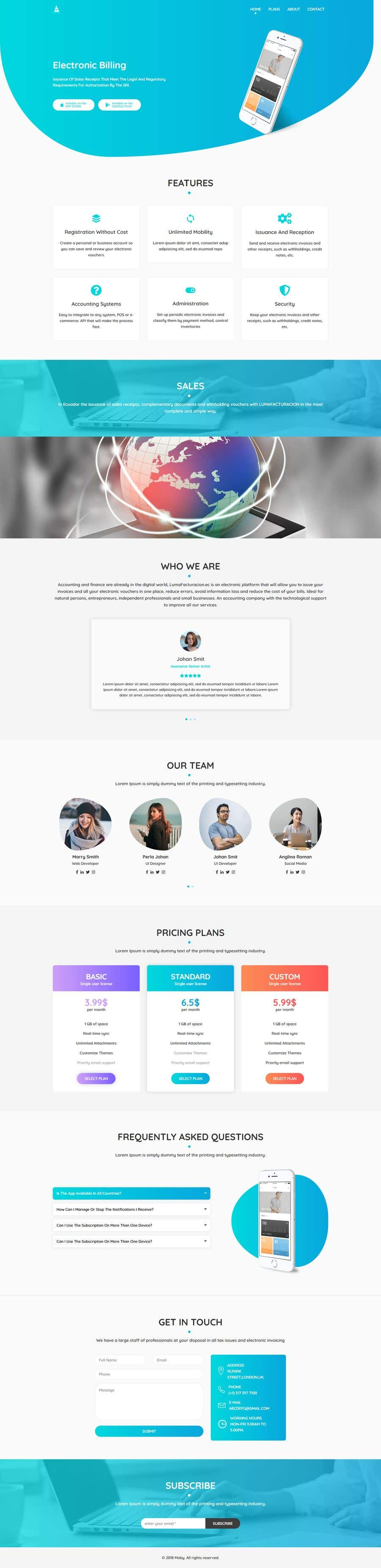 Entry #2 by DevAb for Creation of 4 Landing page based on