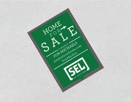 #36 untuk Use different font (your discretion) than the bold text SEL logo to better contrast for a 2' x 3' real estate sign with a 2' triangle on the bottom to resemble a text message bubble. oleh DesignExpert29