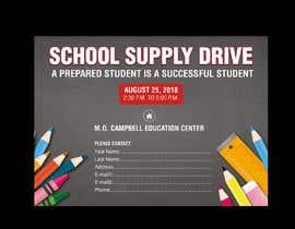 #41 for School Supply Drive Flyer Design for Teachers/Students af azgraphics939