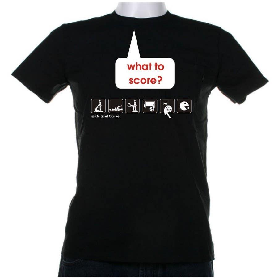 Inscrição nº 126 do Concurso para Gaming and scoring theme t-shirt design wanted