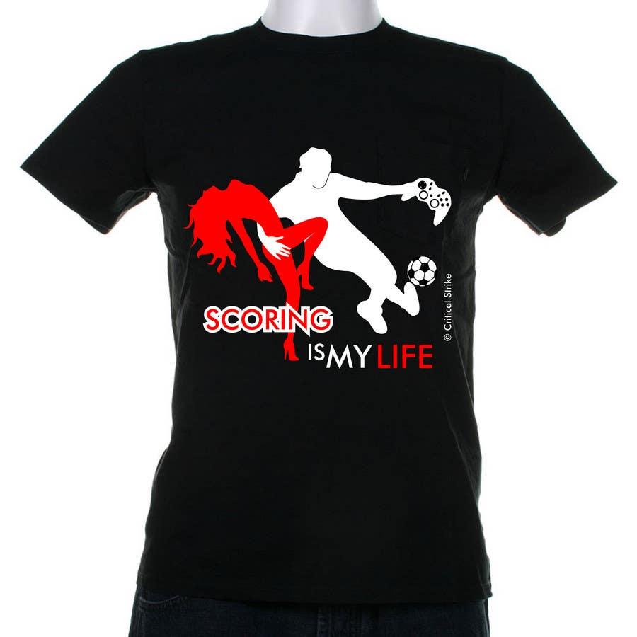 Inscrição nº 65 do Concurso para Gaming and scoring theme t-shirt design wanted