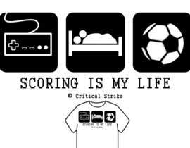 #6 para Gaming and scoring theme t-shirt design wanted por GavinReed