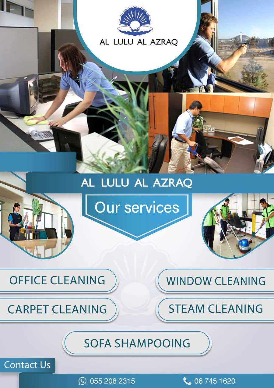 """Contest Entry #8 for create flyer """"Commercial Cleaning"""""""