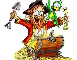 Nro 44 kilpailuun Create a Mascot and logo for indoor flea market Treasure island Flea Market käyttäjältä ecomoglio