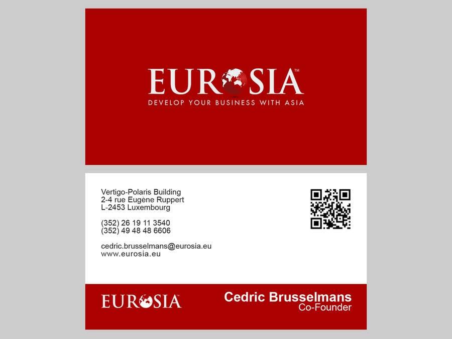 Kilpailutyö #                                        60                                      kilpailussa                                         Business Card Design for www.eurosia.eu