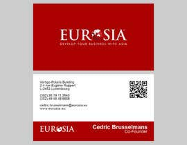 #60 para Business Card Design for www.eurosia.eu por milanche037