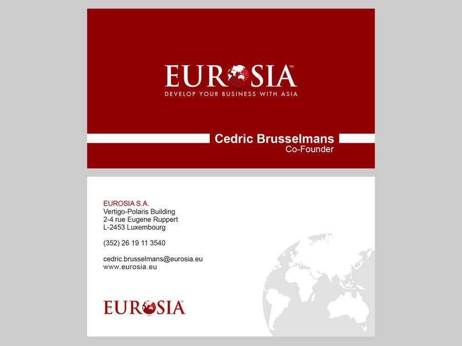 Bài tham dự cuộc thi #                                        101                                      cho                                         Business Card Design for www.eurosia.eu