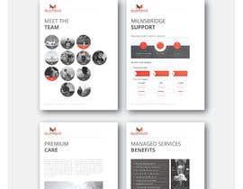 #32 untuk Redesign existing company profile, brochure, and design 5 individual product sheets. oleh claudiuddu