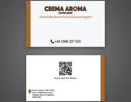 #4 for Business Card for Crema Aroma Coffee Shop by Mohammedazzam7