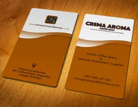 #62 for Business Card for Crema Aroma Coffee Shop by colormode