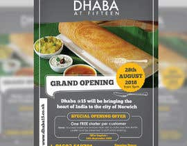 #13 untuk Design a Flyer for a Indian Street Cafe oleh darbarg