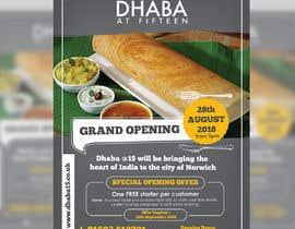darbarg tarafından Design a Flyer for a Indian Street Cafe için no 13