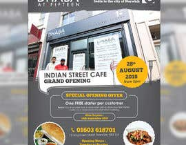 #22 untuk Design a Flyer for a Indian Street Cafe oleh darbarg