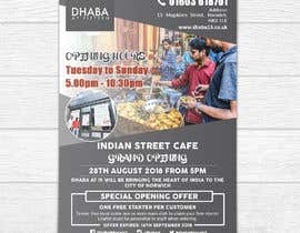 #24 untuk Design a Flyer for a Indian Street Cafe oleh shemulpaul