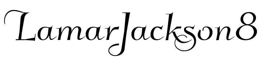 Konkurrenceindlæg #21 for Lamar Jackson 8 Logo Tshirt