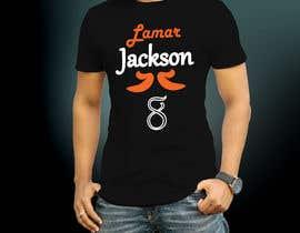 #11 for Lamar Jackson 8 Logo Tshirt af Mostakim1011