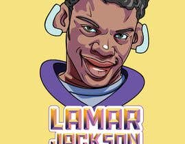 #19 for Lamar Jackson 8 Logo Tshirt af manesomnath1