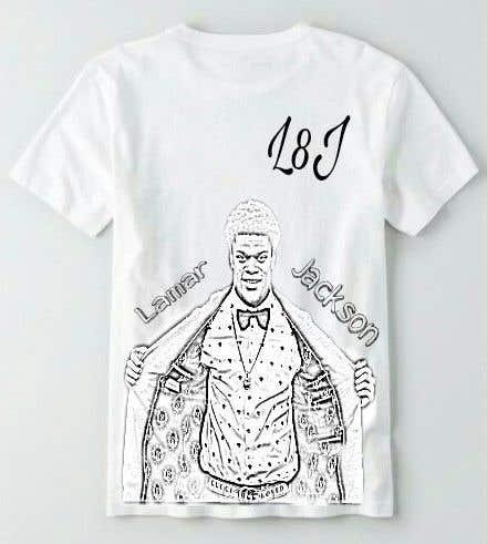 Konkurrenceindlæg #17 for Lamar Jackson 8 Logo Tshirt