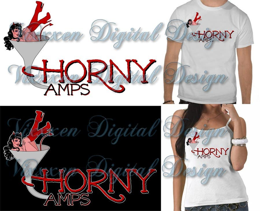 Proposition n°88 du concours Logo Design for Horny Amps