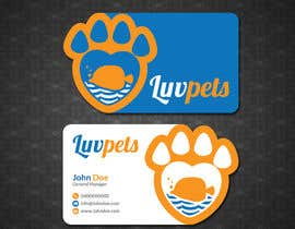 #57 pentru Create Business cards for Pet business de către papri802030