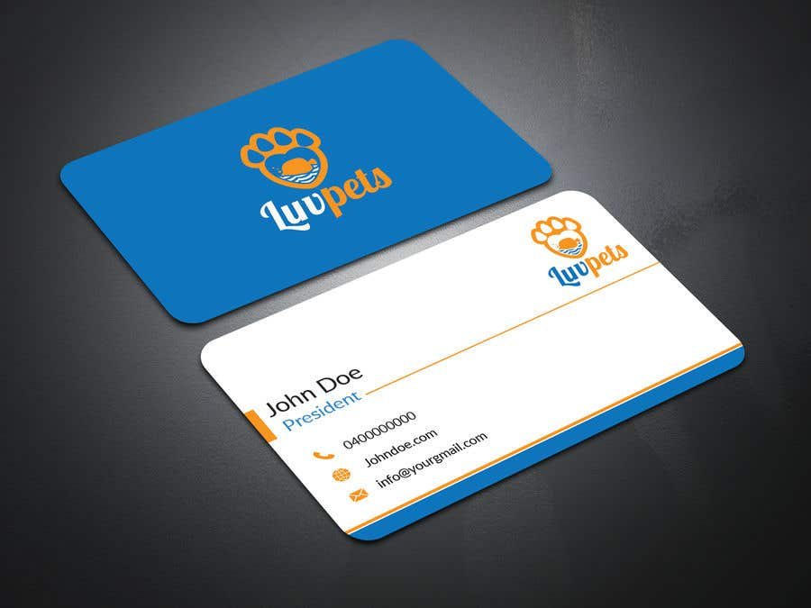 Entry 6 by kajol2322 for create business cards for pet business business card colourmoves