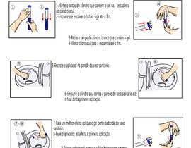 #14 untuk Criar ilustração para modo de uso de produto com Aplicador oleh sdney58