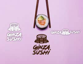 #28 for Logo design for new restaurant. The name is Ginza Sushi.   We are looking for classy logo with maroon, Black and touches of silver (silver bc of the meaning). Would also like a brushstroke look but a highly visible name. by sinzcreation
