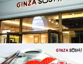 #41 for Logo design for new restaurant. The name is Ginza Sushi.   We are looking for classy logo with maroon, Black and touches of silver (silver bc of the meaning). Would also like a brushstroke look but a highly visible name. by ashim007