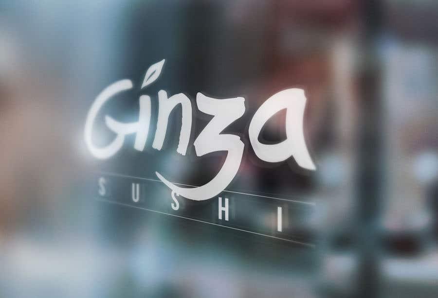 Συμμετοχή Διαγωνισμού #82 για Logo design for new restaurant. The name is Ginza Sushi.   We are looking for classy logo with maroon, Black and touches of silver (silver bc of the meaning). Would also like a brushstroke look but a highly visible name.