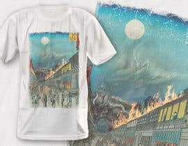 #7 для Monster attack on city T shirt design от robiulhossi