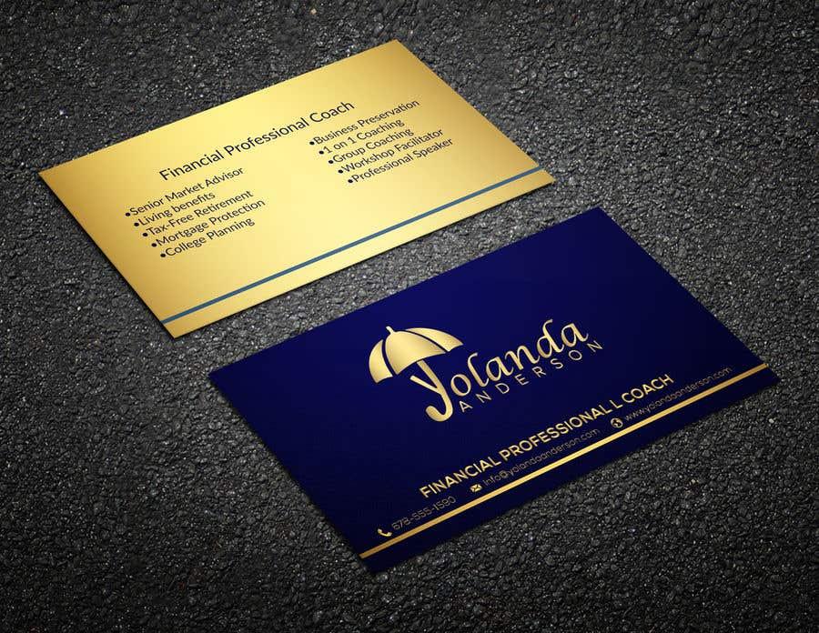 Penyertaan Peraduan #119 untuk Design Insurance Salesman Business Cards