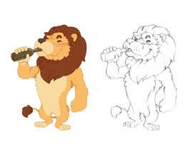 #26 for I want a cartoon lion drinking a beer glass by satherghoees1