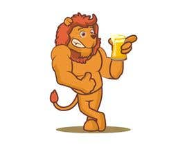 #21 for I want a cartoon lion drinking a beer glass by sandy4990