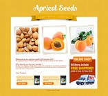 #6 for Graphic Design - Redesign FRONT PAGE Only - apricotseeds.co.nz website by KreativeAgency