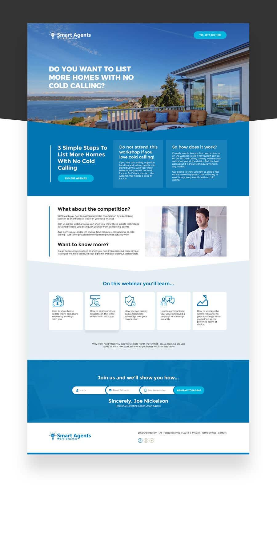 Penyertaan Peraduan #4 untuk Design Website Mockup for Webinar Registrations