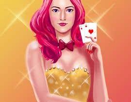 #15 para Illustration of a female joker or croupier de jasongcorre