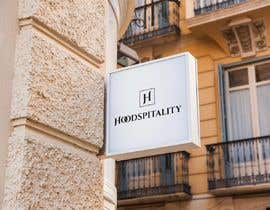 "mdmahin11 tarafından I need a logo for my company ""Hoodspitality"". Looking for a logo in lettering format. Just the word spelled out in custom font. Clean. için no 24"