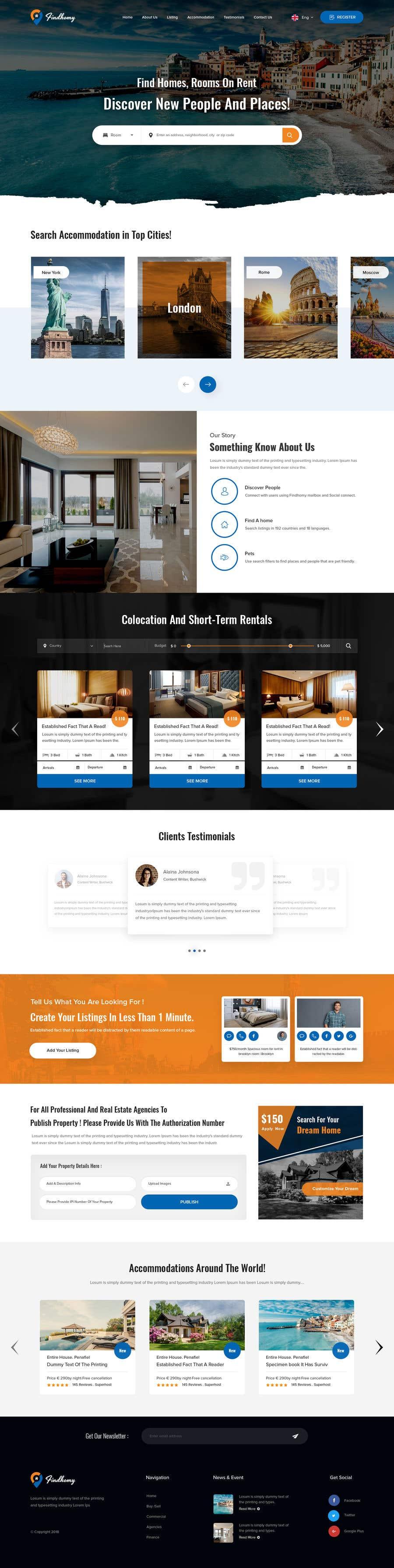 Penyertaan Peraduan #39 untuk Create a real estate site also in colocation (FINDHOMY)