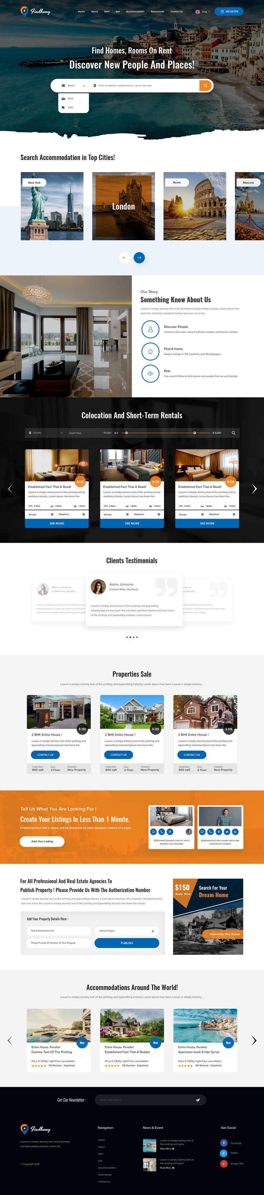 Penyertaan Peraduan #56 untuk Create a real estate site also in colocation (FINDHOMY)