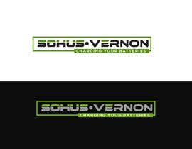 #10 for I need a logo designed.   With box around the below :   SOHUS•VERNON  charging your batteries  Coulours white / green / greys  High quality   Clear back ground in all formats to be supplied by NeriDesign