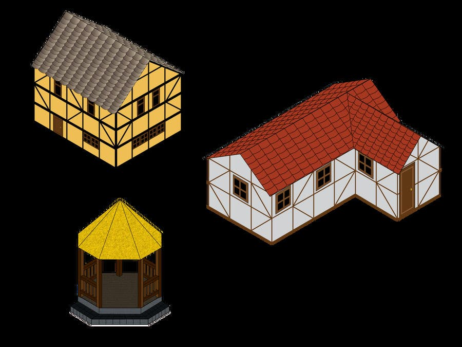 Contest Entry #15 for 50 isometric building designs for iPhone/Android city building game