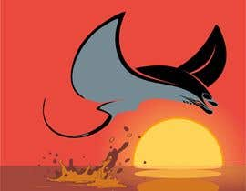 #5 for Draw graphic of a manta ray buffeted by wind by naythontio