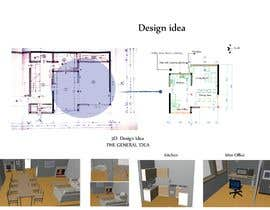 #17 untuk Design idea for kitchen & living room oleh Showmore5