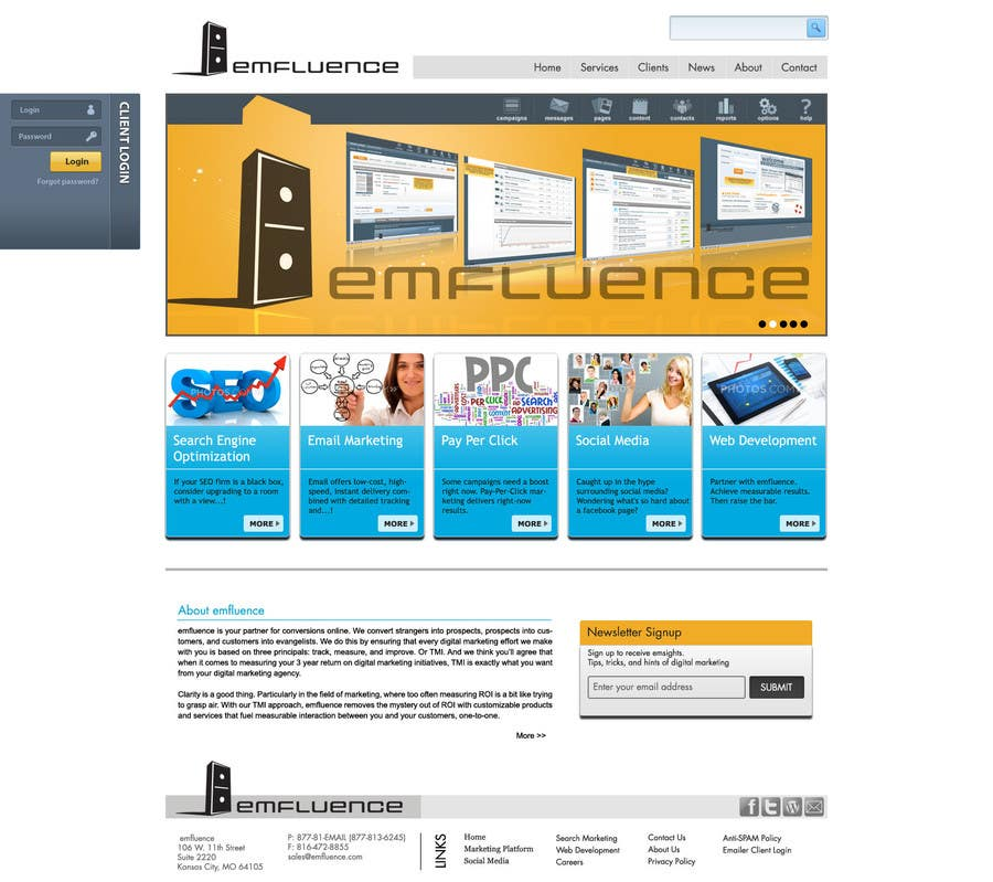 #64 for Website Design, Responsive, HTML5 by yadbinder