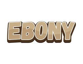 #5 for EBONY. A logo for an interracial site for white boys and black girls by creart0212