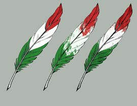 #21 para Draw a picture of a bird feather with Italian colors por Shikinushka