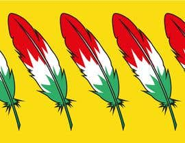#17 para Draw a picture of a bird feather with Italian colors por DagmaCreative